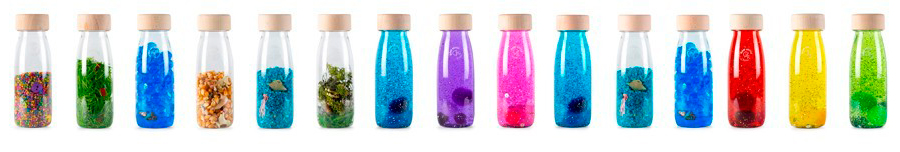 Botellas sensoriales de diferentes colores Petit Boum