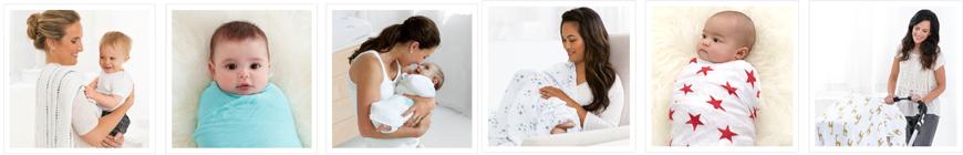 Diferentes usos de una gasa o manta muselina de la marca Aden + Anais