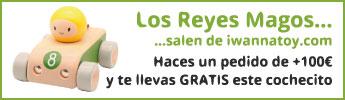 Los Reyes Magos salen de iwannatoy.com. Haces un pedido de +100€ y te llevas GRATIS este cochecito.