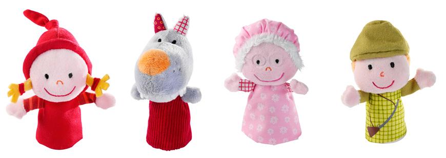 Marionetas de dedo caperucita roja (Little Red Riding Hood finger puppets)